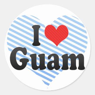 I Love Guam Classic Round Sticker