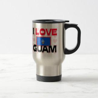 I Love Guam Travel Mug