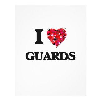 I love Guards 21.5 Cm X 28 Cm Flyer