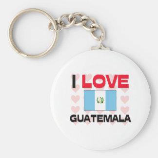 I Love Guatemala Key Ring