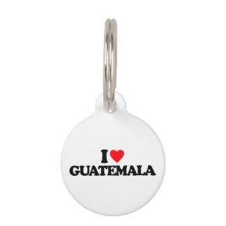 I LOVE GUATEMALA PET NAME TAG