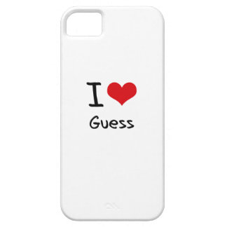I Love Guess iPhone 5 Covers