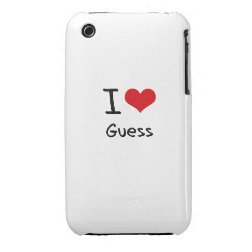 I Love Guess iPhone 3 Case