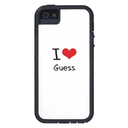 I Love Guess iPhone 5 Case