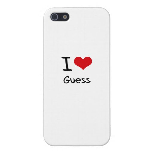 I Love Guess Case For iPhone 5