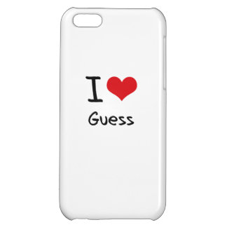 I Love Guess iPhone 5C Cases