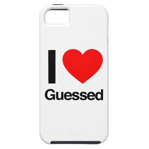 i love guessed iPhone 5 cases