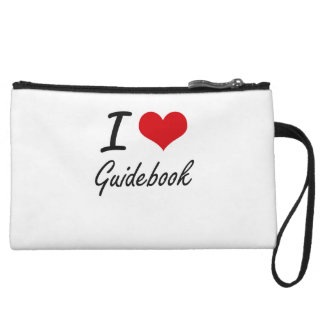 I love Guidebook Wristlet Clutches