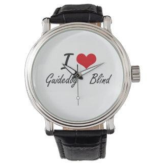 I love Guidedog   Blind Wrist Watches