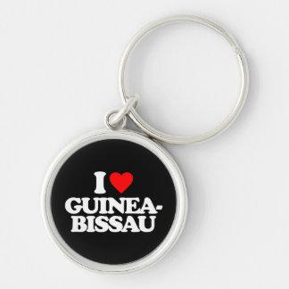 I LOVE GUINEA-BISSAU KEY CHAINS