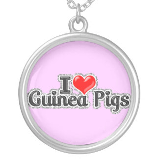 I LOVE Guinea Pig Sterling silver Necklace Jewelry