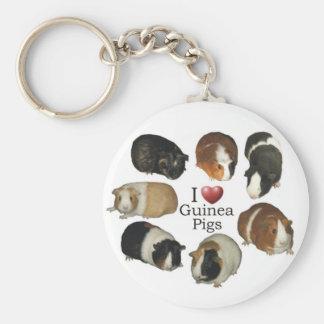 I Love Guinea Pigs - Keychain
