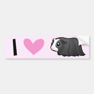 I Love Guinea Pigs (long) Bumper Sticker