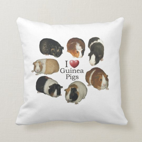 I Love Guinea Pigs Pillow