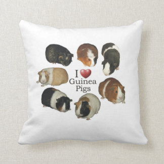 I Love Guinea Pigs Pillow Cushions