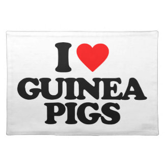 I LOVE GUINEA PIGS PLACE MAT