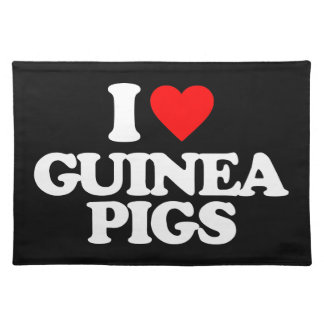 I LOVE GUINEA PIGS PLACEMATS