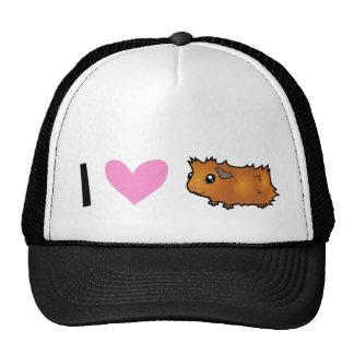 I Love Guinea Pigs (scruffy) Cap