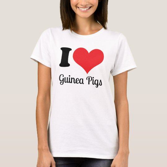 I Love Guinea Pigs Shirt