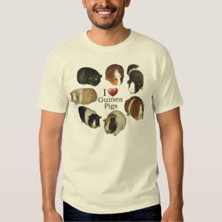 I Love Guinea Pigs - T-Shirt