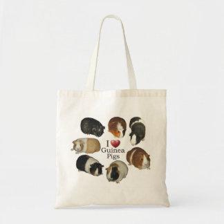 I Love Guinea Pigs Tote Bag