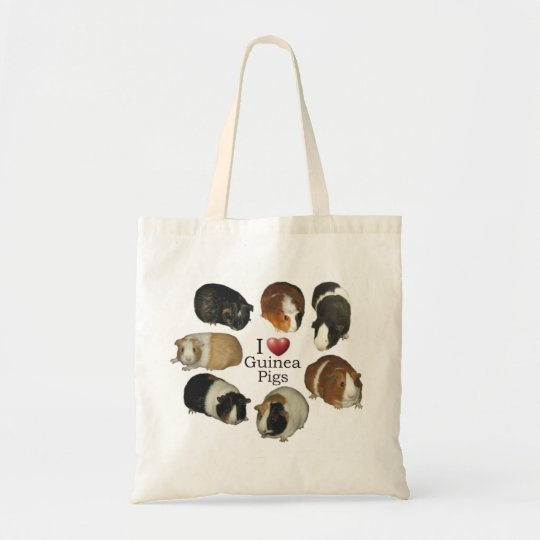 I Love Guinea Pigs Tote Bag