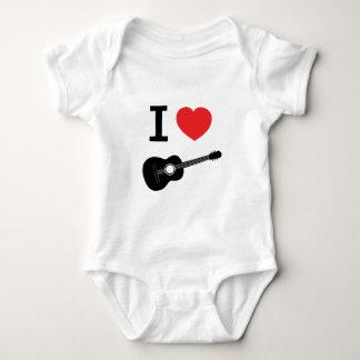 I love guitar baby bodysuit