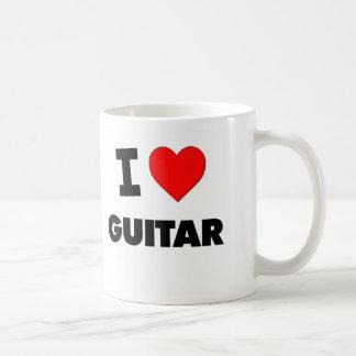 I Love Guitar Coffee Mugs
