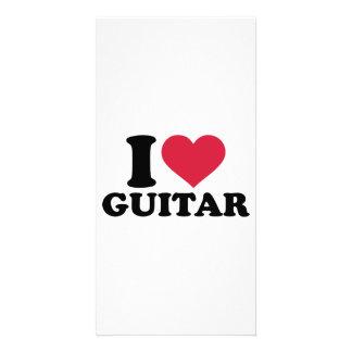 I love guitar custom photo card
