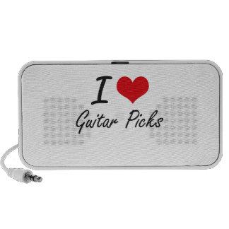 I love Guitar Picks Portable Speaker
