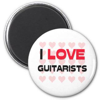 I LOVE GUITARISTS 6 CM ROUND MAGNET