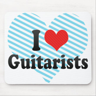I Love Guitarists Mouse Pad