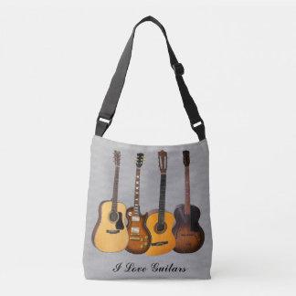 I LOVE GUITARS CROSSBODY BAG