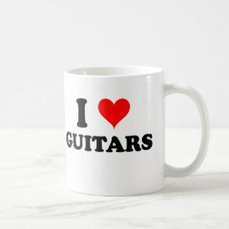 I Love Guitars Coffee Mugs