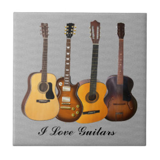I LOVE GUITARS TILE
