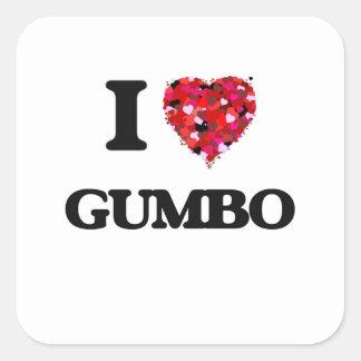 I Love Gumbo Square Sticker