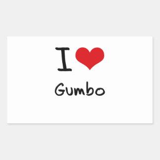 I Love Gumbo Rectangle Stickers