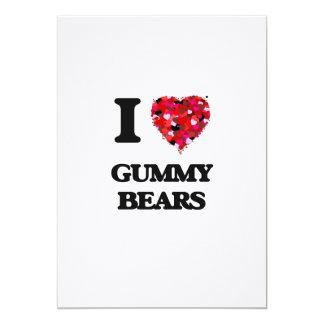 I love Gummy Bears 13 Cm X 18 Cm Invitation Card