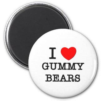I Love Gummy Bears 6 Cm Round Magnet
