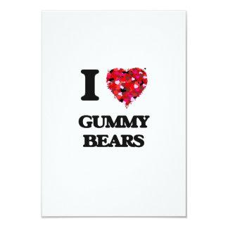 I love Gummy Bears 9 Cm X 13 Cm Invitation Card