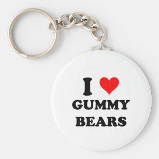 I Love Gummy Bears Keychain