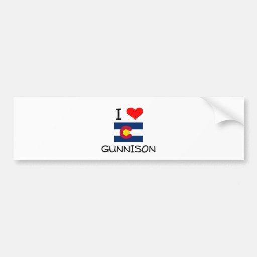 I Love GUNNISON Colorado Bumper Stickers