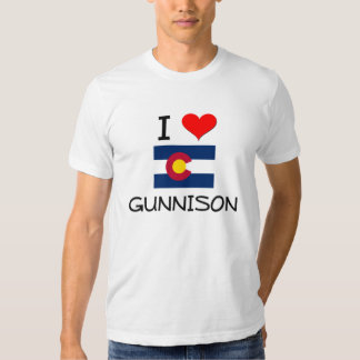 I Love GUNNISON Colorado T Shirt