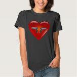 I love guns - 1911 .45/Heart Tshirt