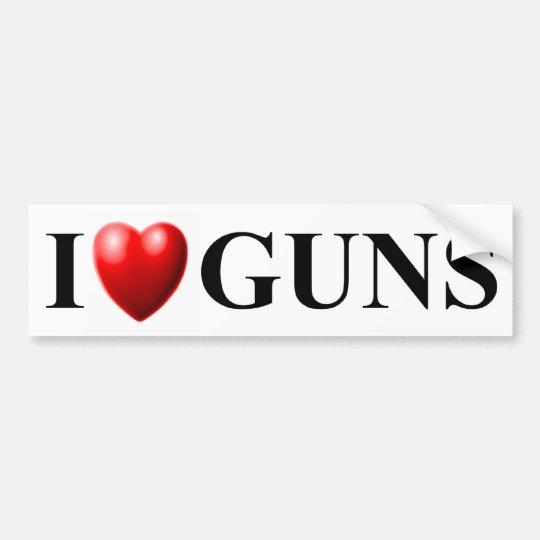 I Love Guns Bumper Sticker
