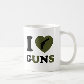 I Love Guns Coffee Mugs