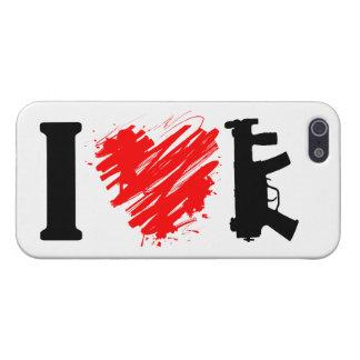 I Love Guns iPhone 5/5S Cases