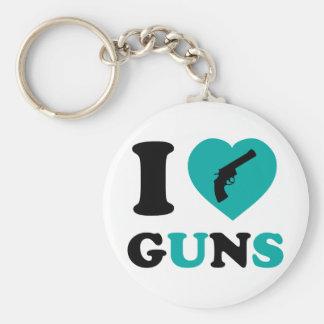 I Love Guns Key Ring