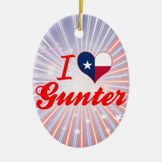 I Love Gunter, Texas Christmas Tree Ornaments