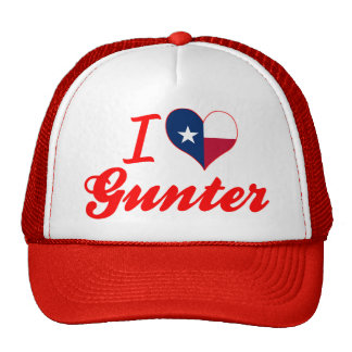 I Love Gunter, Texas Mesh Hats